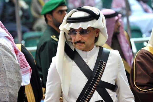 Prince Alwaleed bin Talal in bandolier