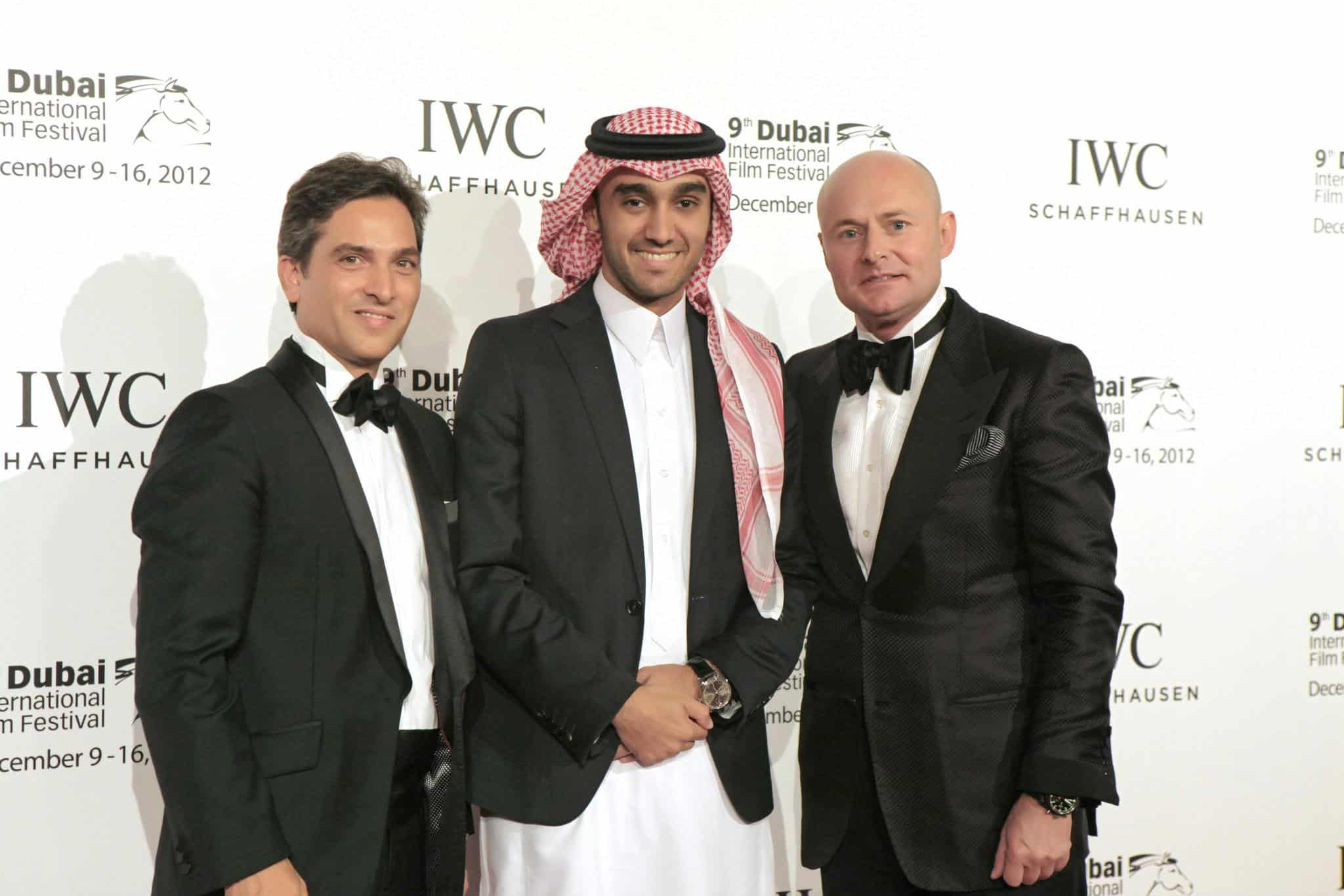 Maxime-Ferte-IWC-Middle-East-Regional-Director-IWC-Saudi-Ambassador-His-Royal-Highness-Prince-Abdulaziz-bin-Turki-AlFaisal-AlSaud-and-Georges-Kern-CEO-IWC.
