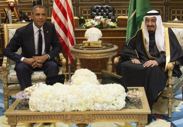 Obama and King Salman during talks held in January