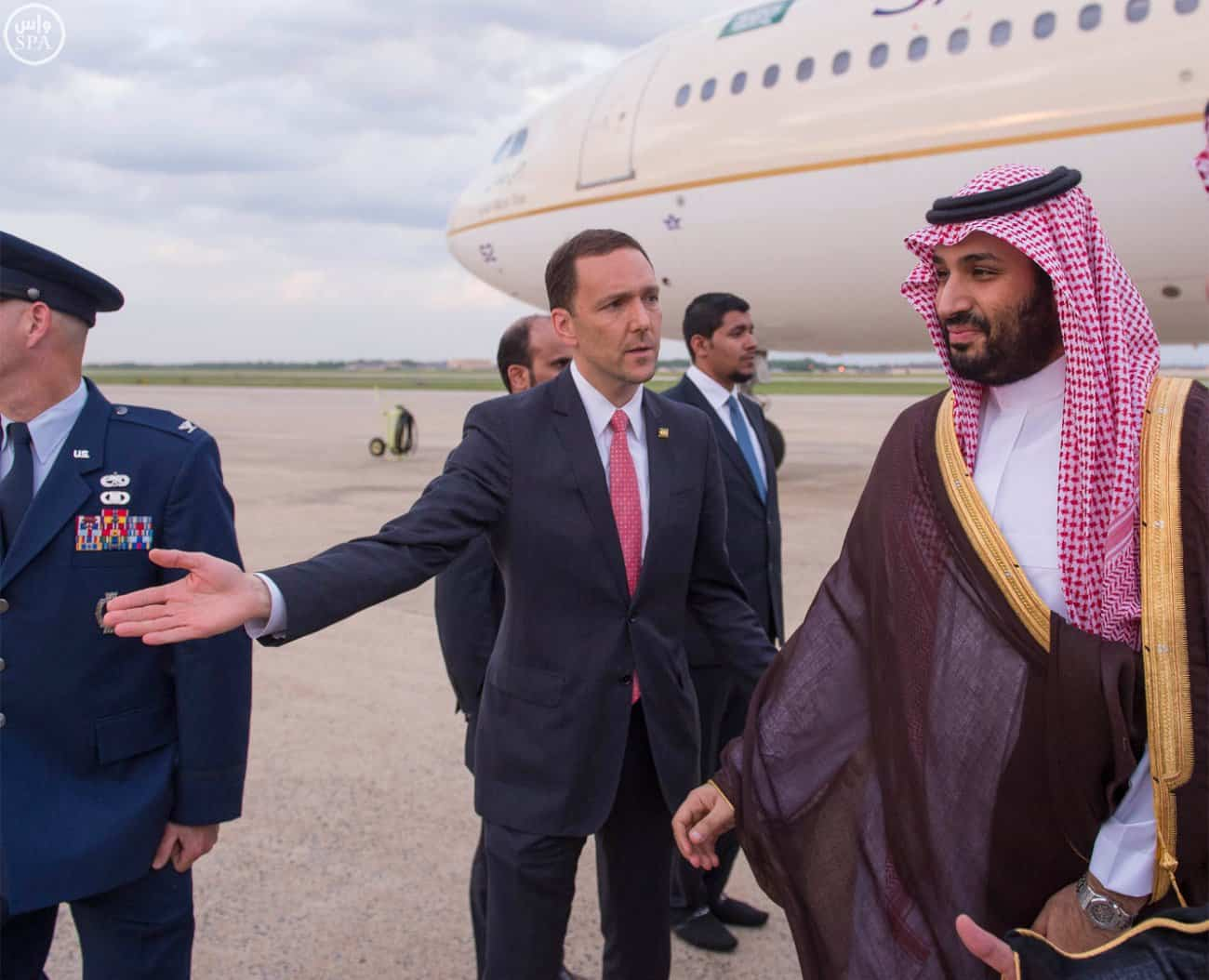 Prince Mohammed bin Salman arrives in US (Photo SPA)