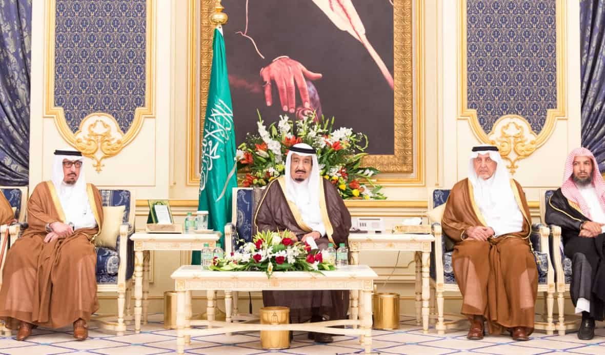 King Salman at the weekly Council of Ministers meeting (Photo SPA)
