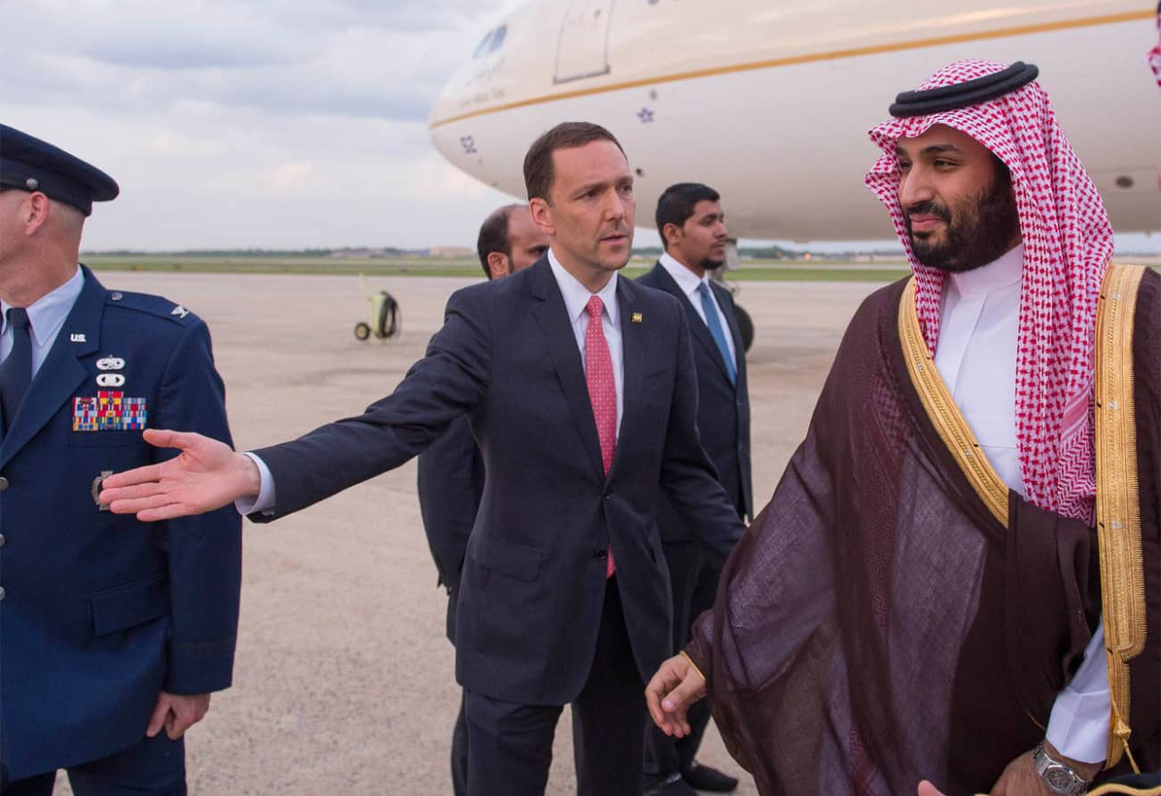 Prince Mohammed bin Salman arrives in the US for Camp David Summit