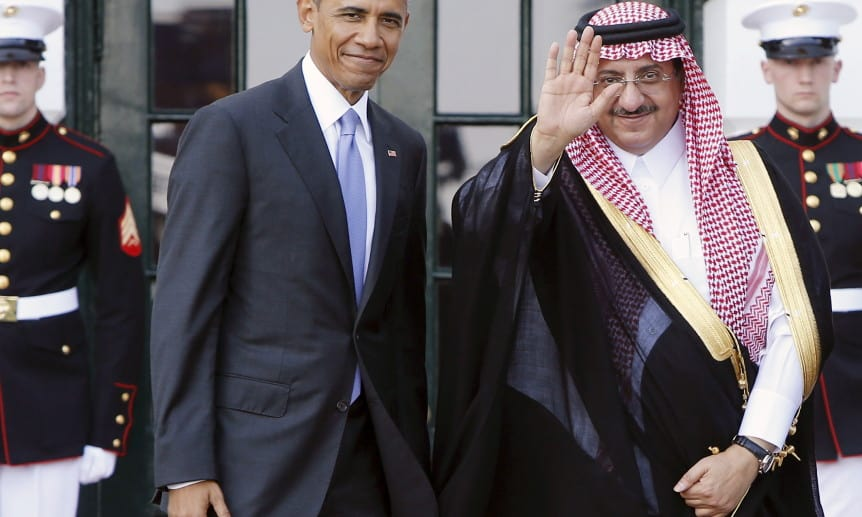 Obama welcomes Saudi Arabia's Crown Prince Mohammed bin Nayef as he plays host to leaders and delegations from the Gulf Cooperation Council countries at the White House in Washington