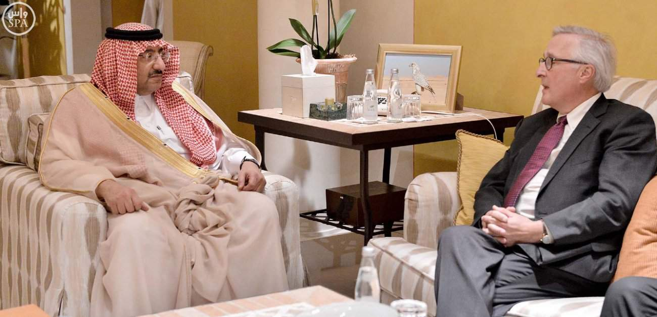 Mohammed bin Nayef and Mr Fadden (Photo SPA)