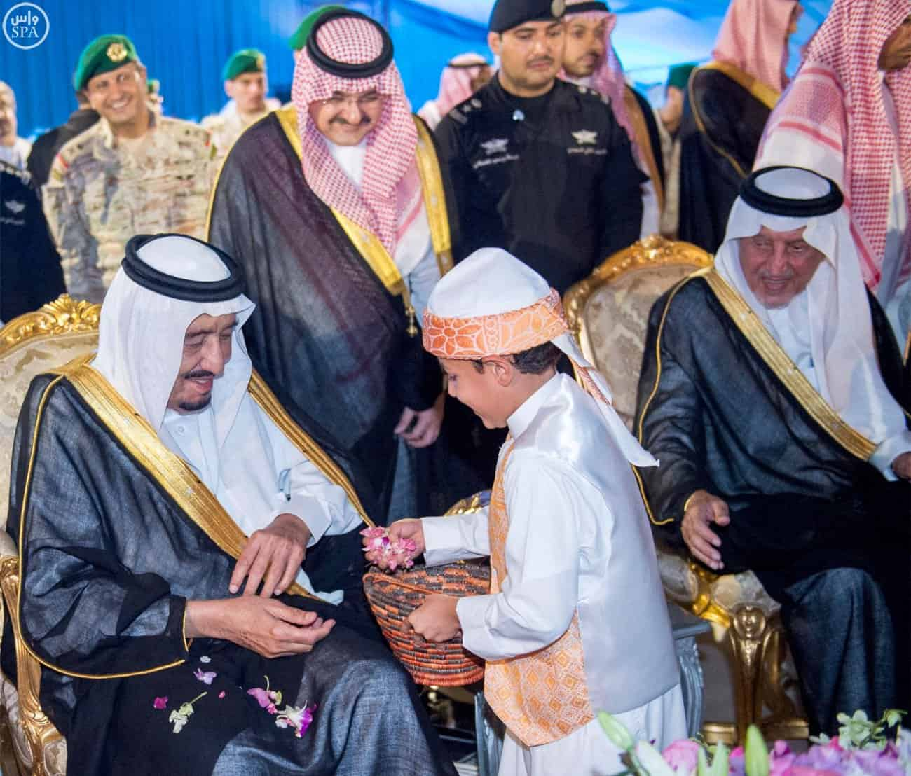 King Salman and the Crown Prince at celebrations (Photo SPA)