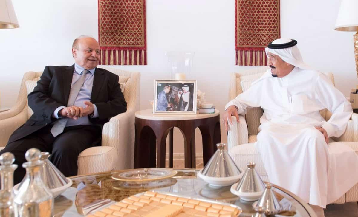 King Salman and the Yemeni president