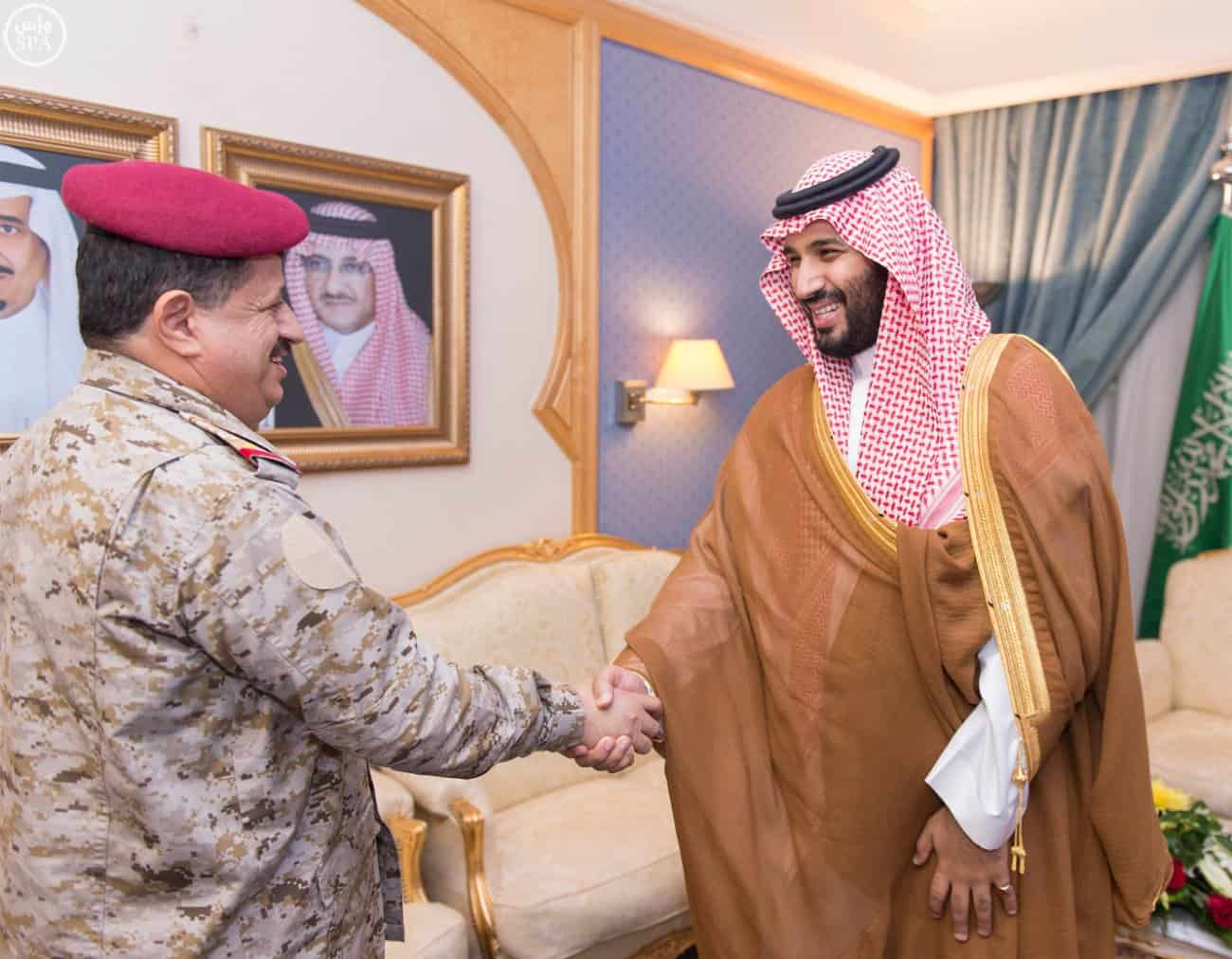Deputy Crown Prince Receives Chief of Yemen's General Staff