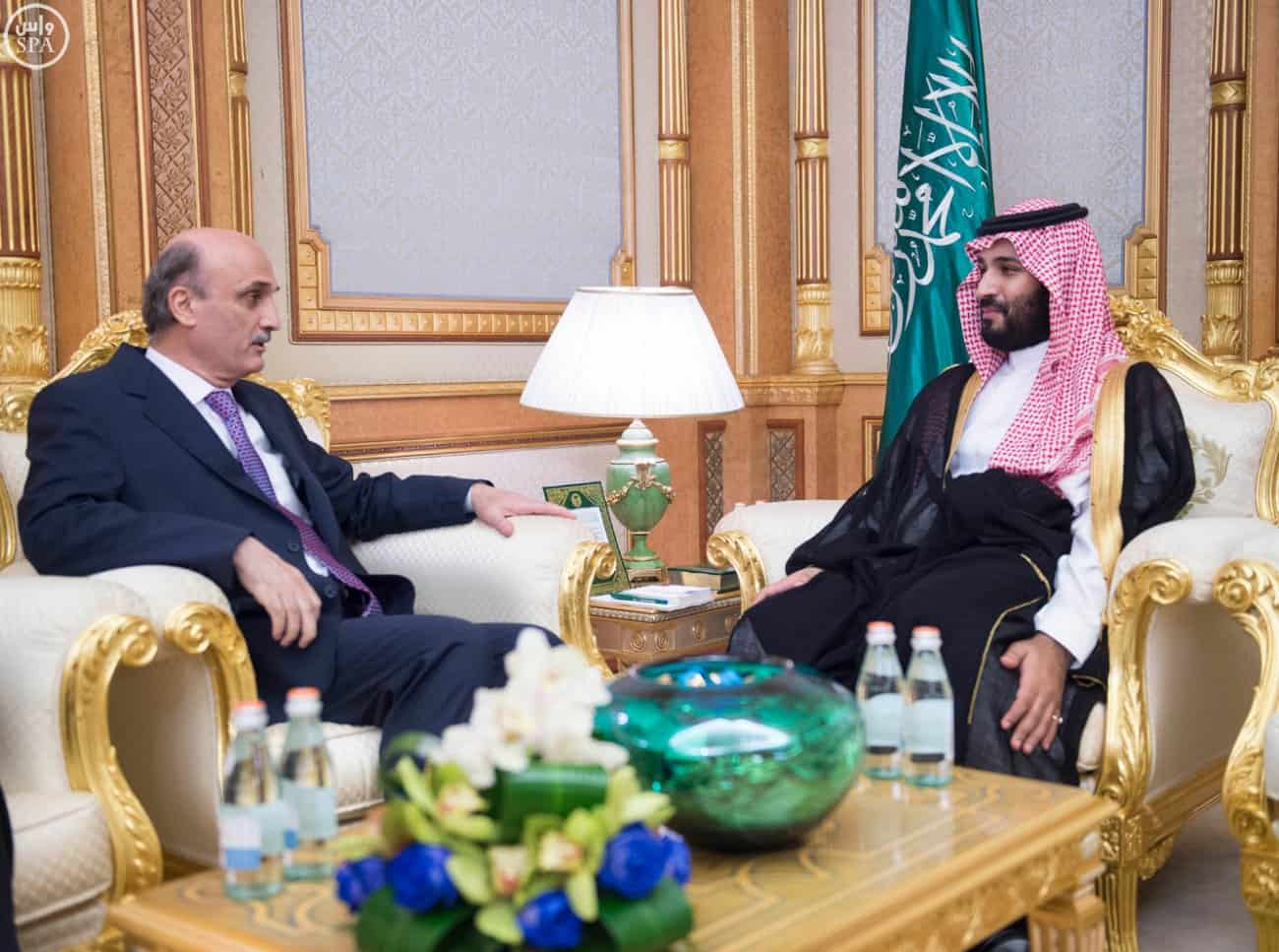 Deputy Crown Prince Receives Leader of the Lebanese Forces Party