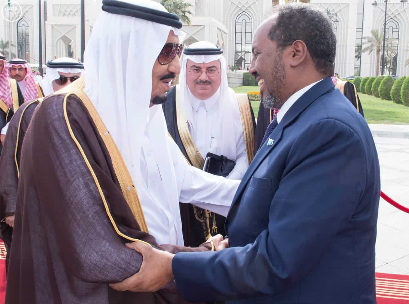 Custodian of the Two Holy Mosques Receives Somalia's President