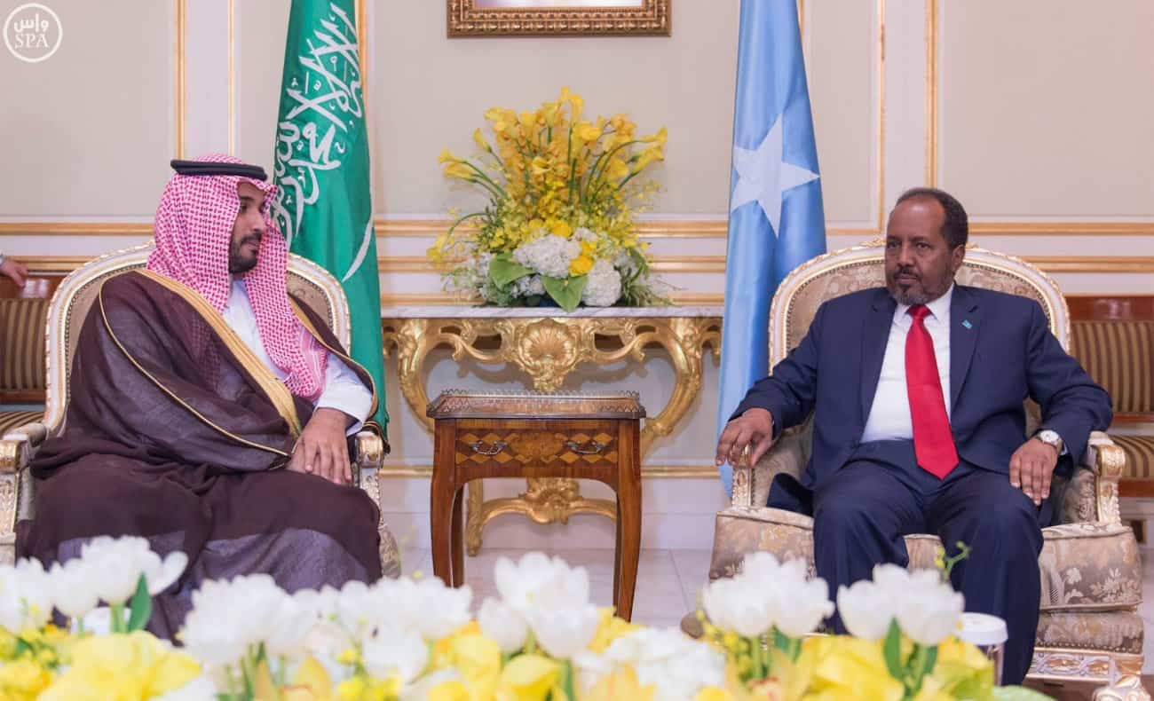 Deputy Crown Prince Receives Somali President