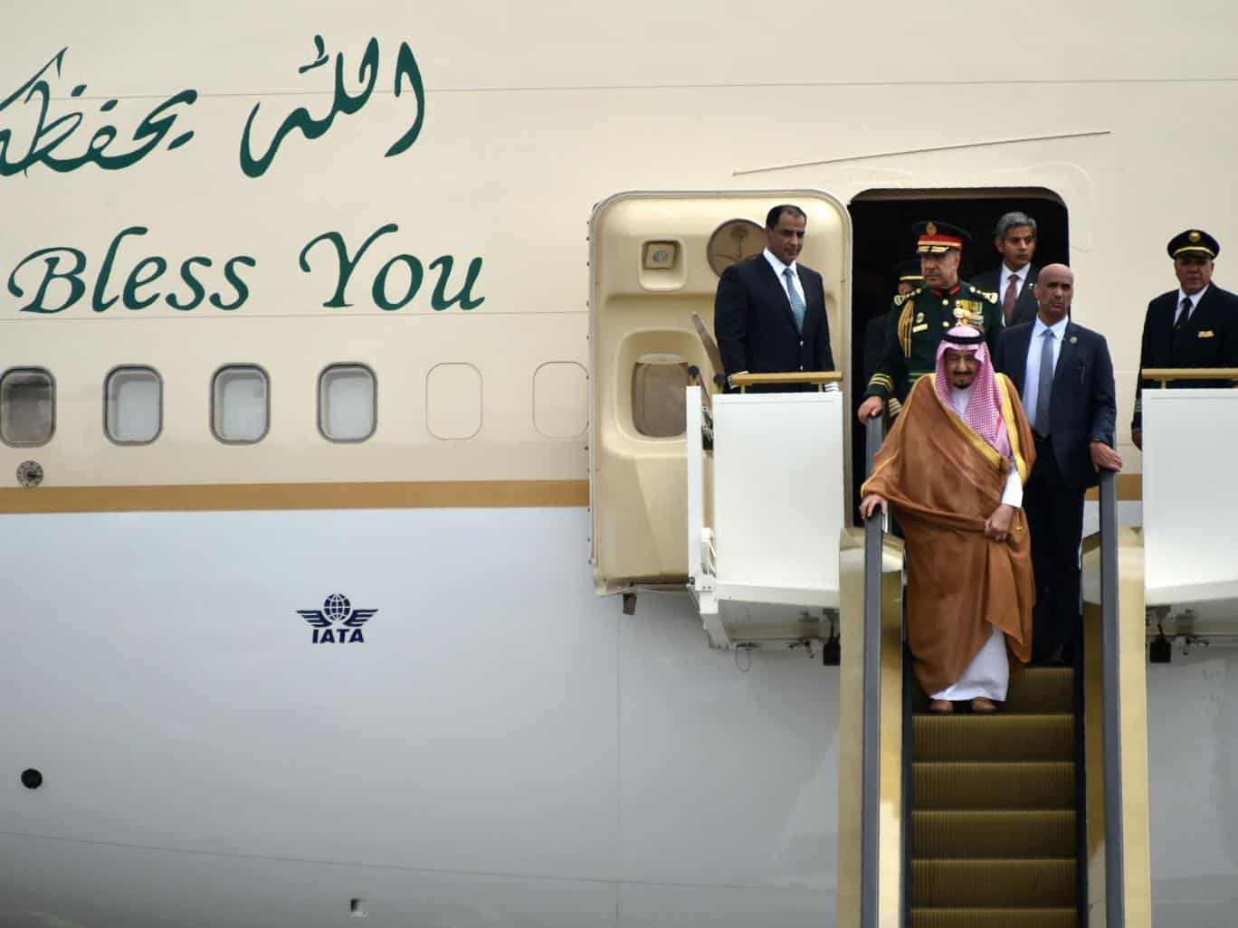King Salman and delegation on tour of Asia