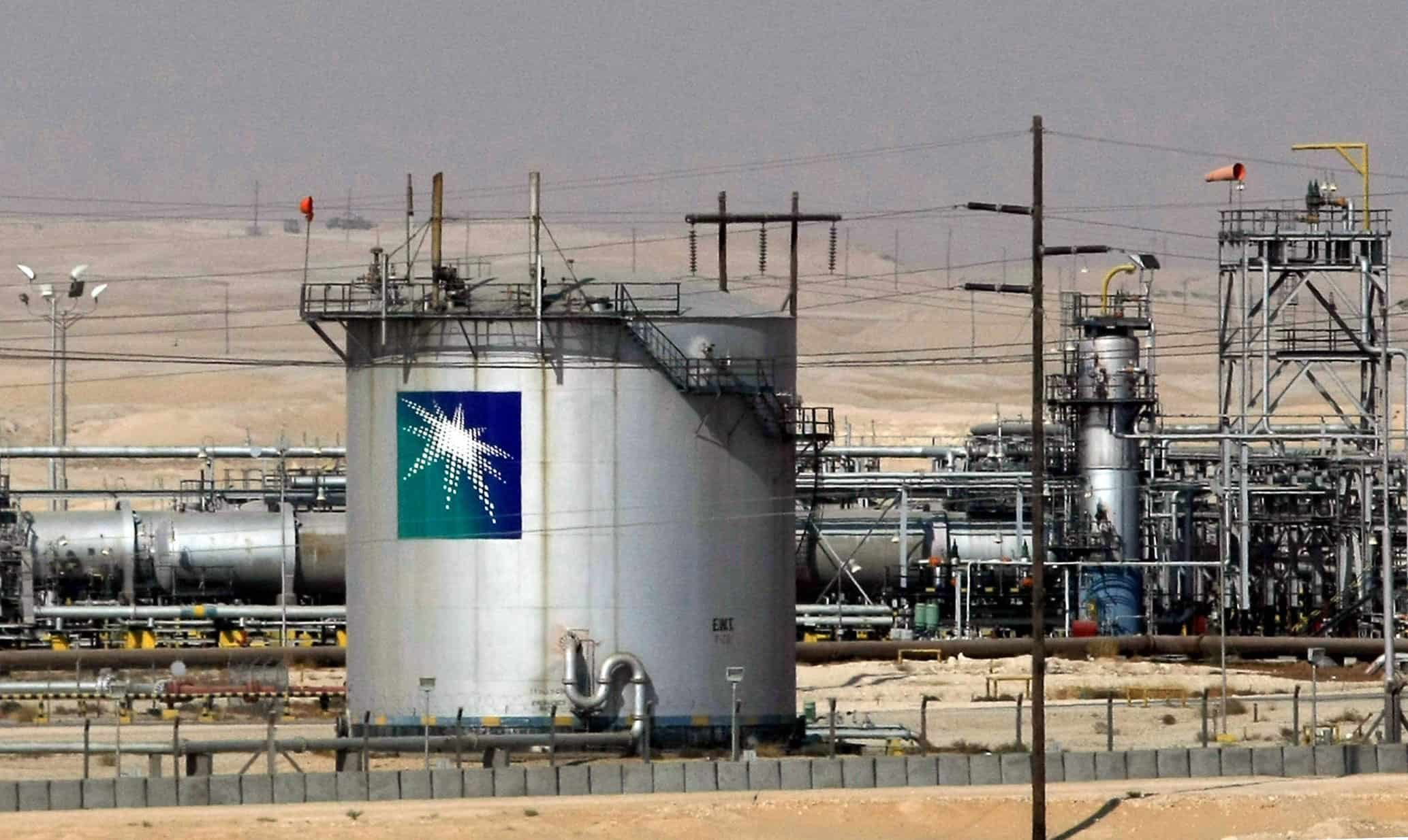 A general view shows the Saudi Aramco oil facility in Dammam city, 450 kms east of the Saudi capital Riyadh, 23 November 2007. Sky-rocketing oil prices that are within striking distance of 100 dollars a barrel have flooded the coffers of the six Gulf Cooperation Council (GCC) members -- Bahrain, Kuwait, Oman, Qatar, Saudi Arabia and United Arab Emirates -- which supply one fifth of world demand. AFP PHOTO/HASSAN AMMAR (Photo credit should read HASSAN AMMAR/AFP/Getty Images)