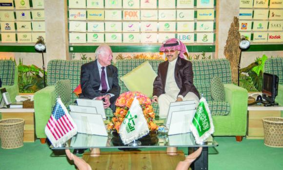 Prince Alwaleed and Jimmy Carter