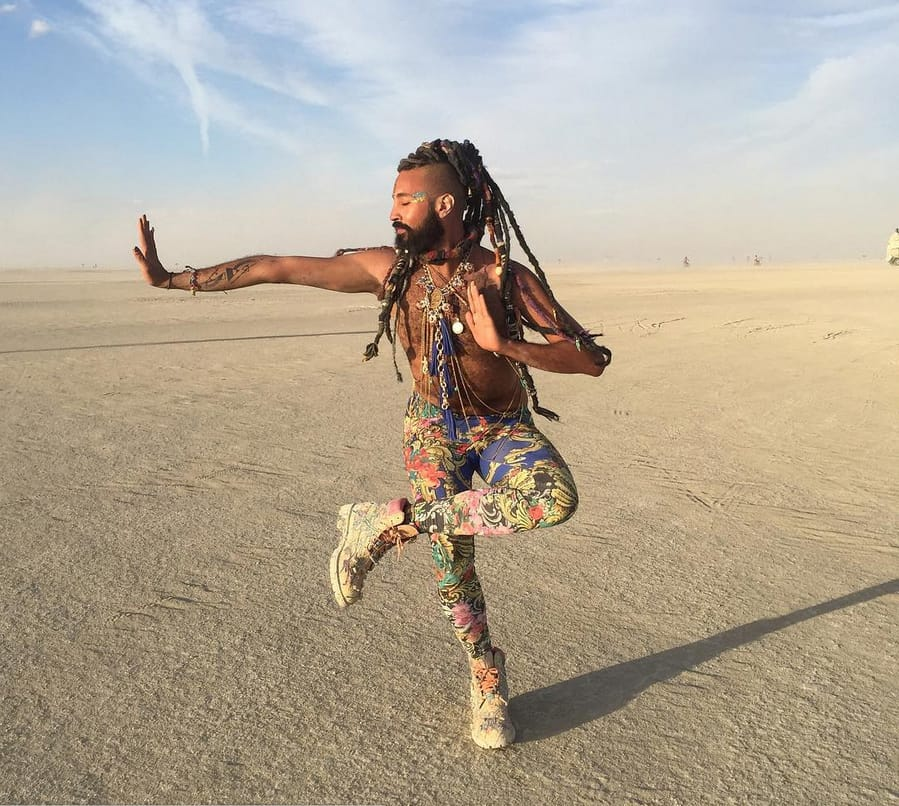 Prince Fahad at the Burning Man festival 2015