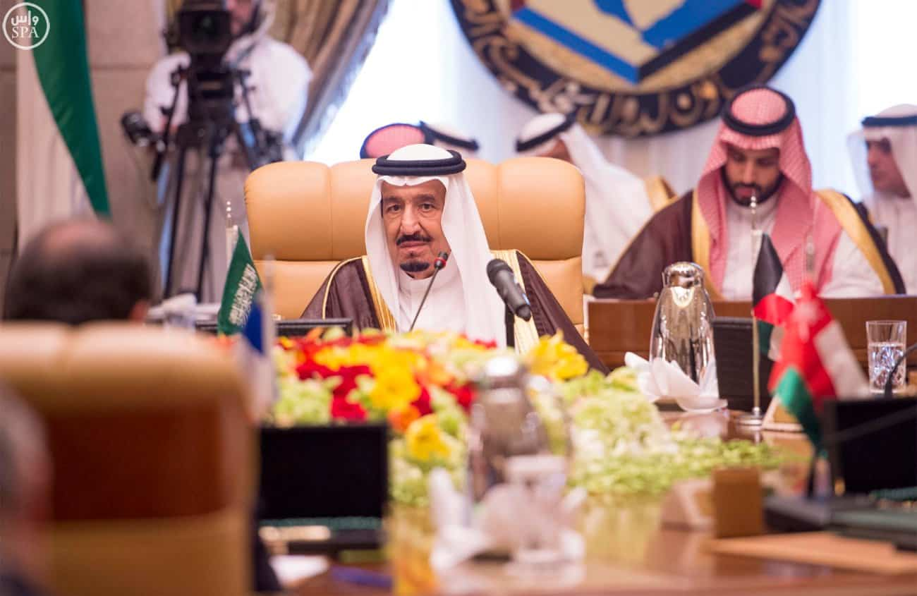 King Salman  chairs the GCC summit in Riyadh