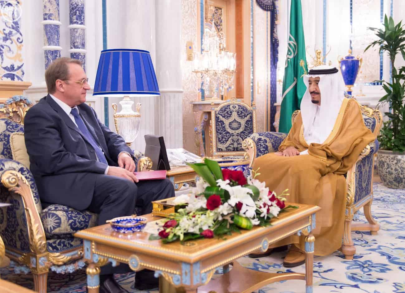 King Salman receives Russian Deputy Foreign Minister Bogadov (Photo SPA)