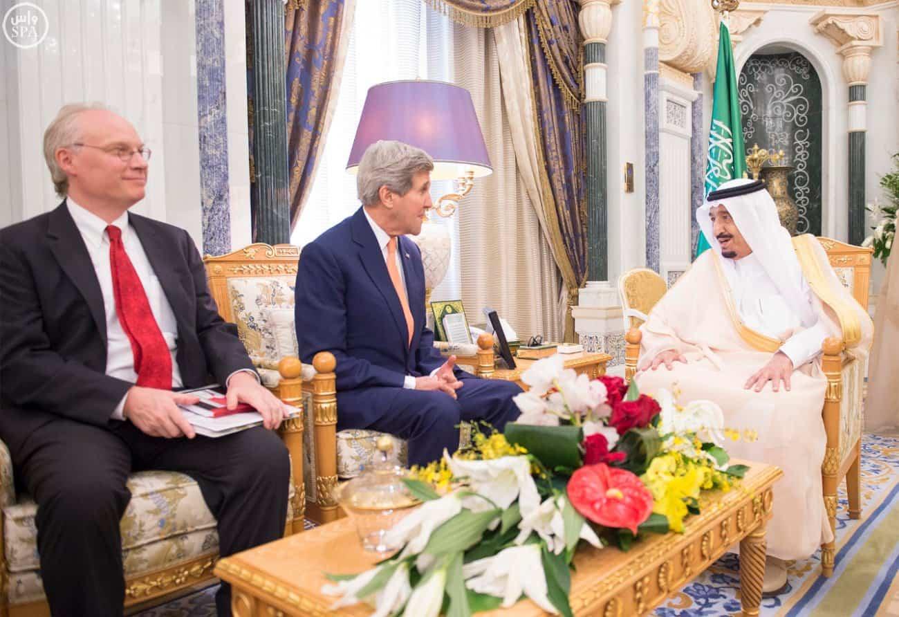 King Salman and US Secretary of State John Kerry