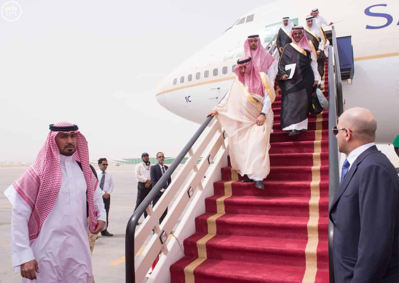 Crown Prince Mohammed bin Nayef returns to Riyadh (Photo SPA)