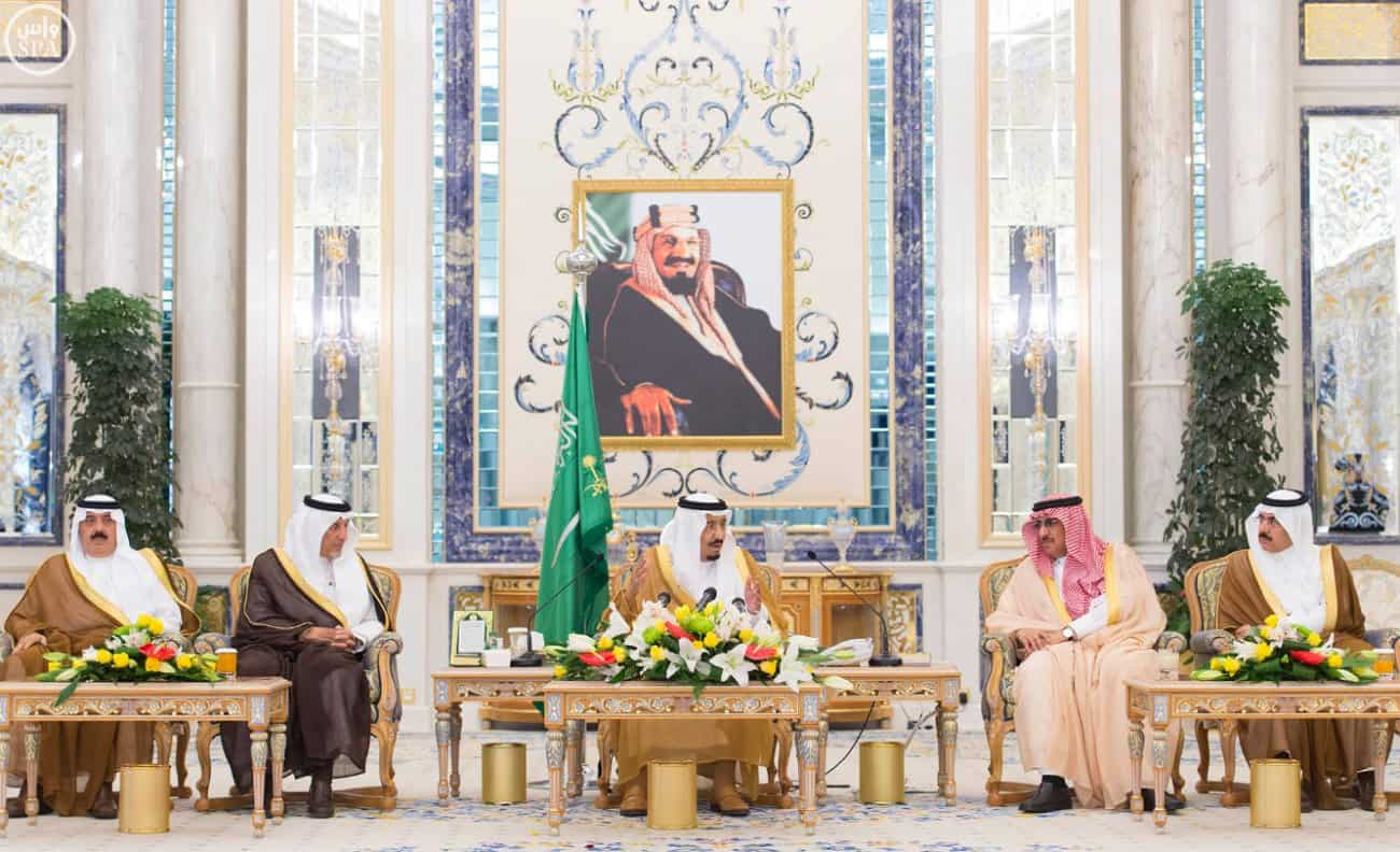 King Salman making his address on Wednesday (Photo SPA)