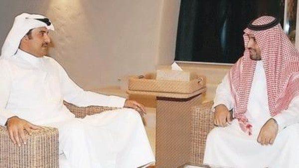 Deputy Prince Mohammed bin Salman with Emir Tamam