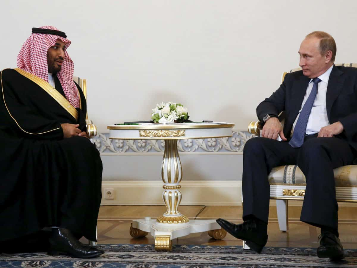 Deputy Crown Prince and Vladimir Putin (Photo SPA)