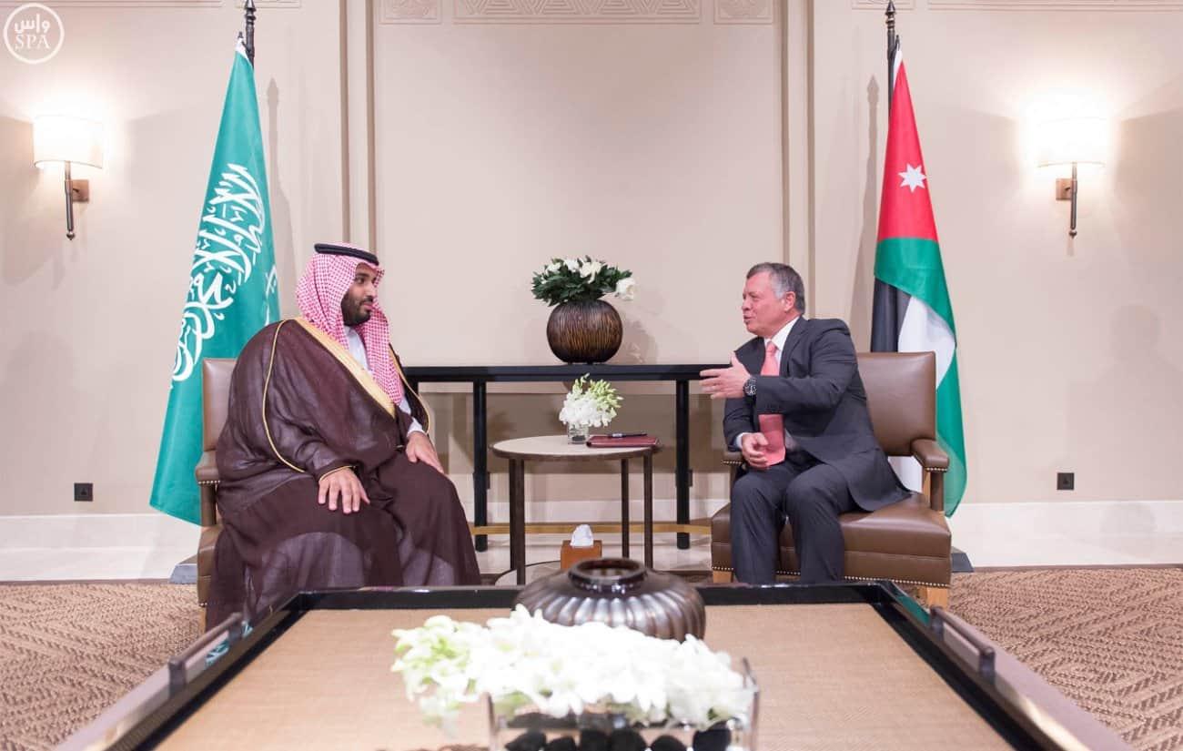 Deputy Crown Prince Mohammed bin Salman and Jordanian King (SPA)