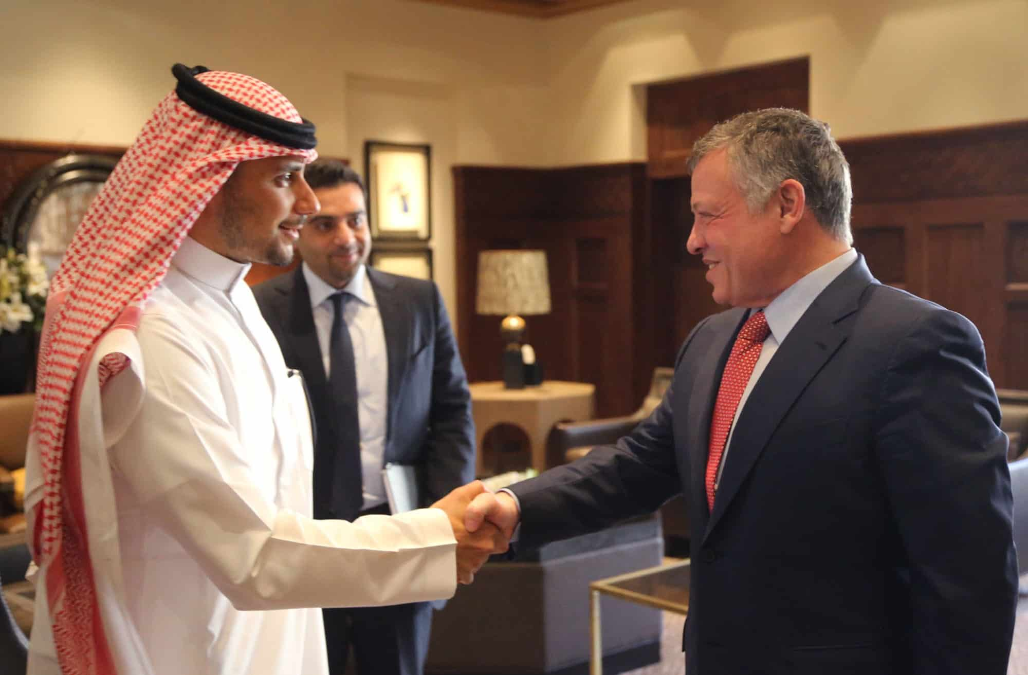 HRH Prince Khalen and His Majesty King Abdullah