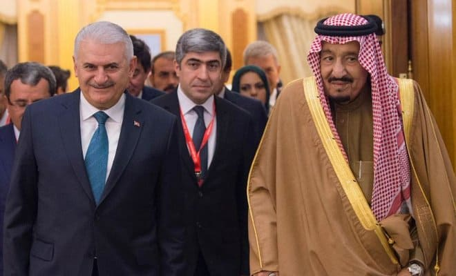 King Salman and Turkish PM