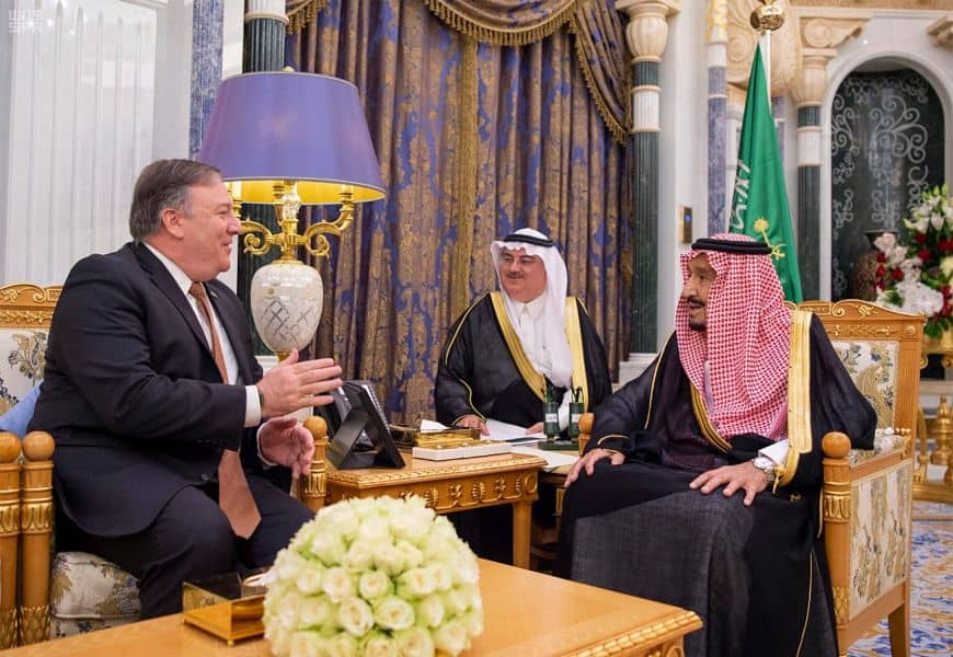 King Salman receives US Secretary of State