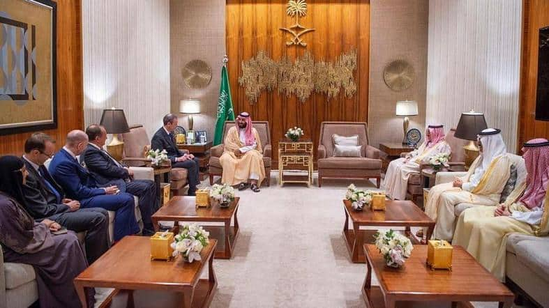 MBS meets british envoy